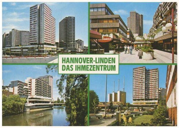 Postkarte Ihmezentrum 1980