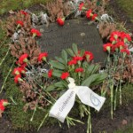 Grab von Orli Wald mit roten Nelken