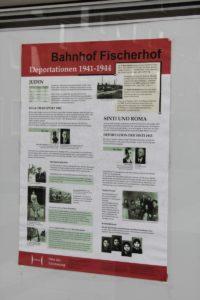 Infotafel an der Stadtbahnhaltestelle Fischerhof
